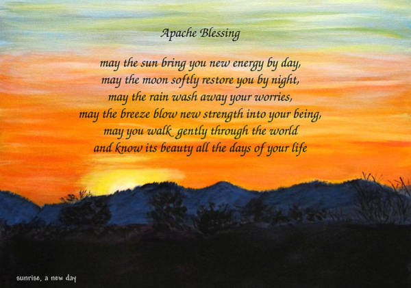Painting - Apache Blessing-sunrise by Linda Feinberg