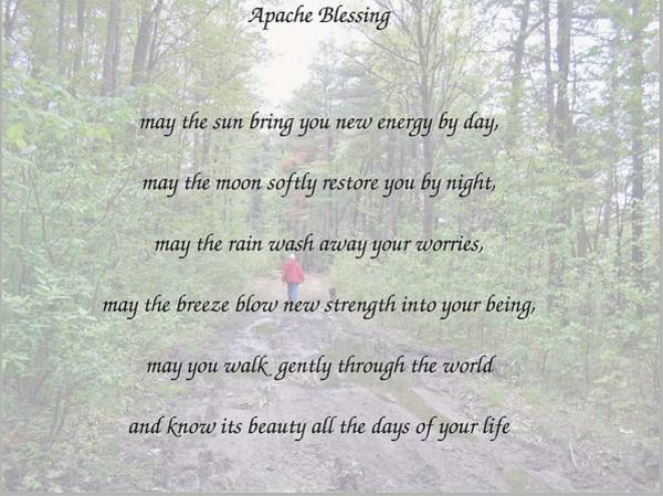 Apache Blessing With Photo Art Print