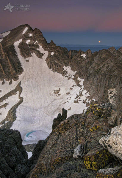 Alpenglow Photograph - Apache Moon by Mike Berenson