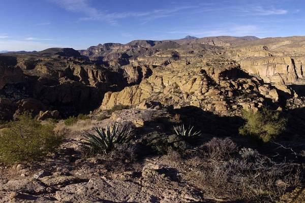 Tuff Wall Art - Photograph - Apache Trail Canyon Overlook Gigapan January 9 2013 by Brian Lockett