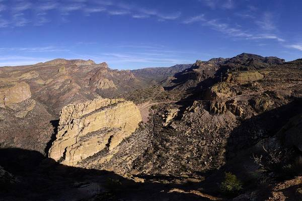Tuff Wall Art - Photograph - Apache Trail Fish Creek Canyon Gigapan January 9 2013 by Brian Lockett