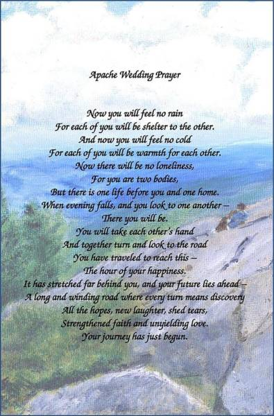 Painting - Apache Wedding Prayer by Linda Feinberg
