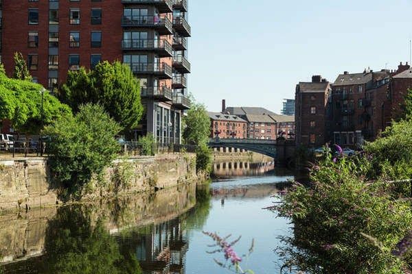 Thompson River Photograph - Apartments Along River Aire, Leeds by P A Thompson