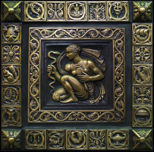 Digital Art - Aphrodite Bronze Plate by Chris Flees