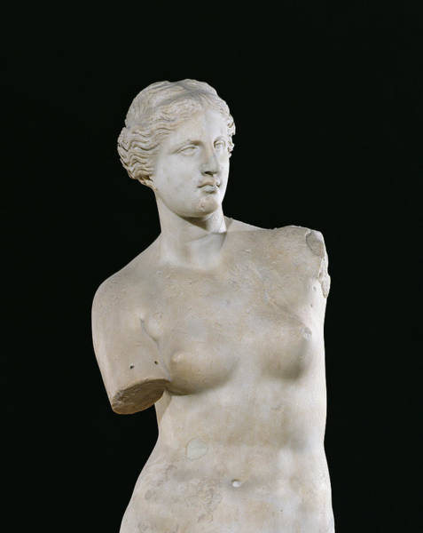 Greek Mythology Wall Art - Photograph - Aphrodite, The Venus De Milo, Hellenistic Period, C.130-100 Bc Marble Detail Od 14152 by Greek