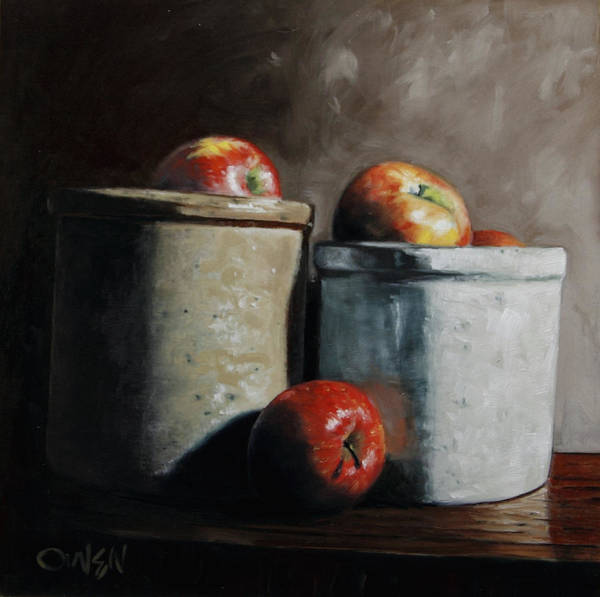 Painting - Apples And Jars by Rob Owen