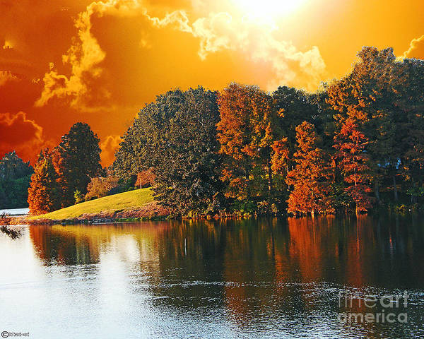 Digital Art - Apocalyptic Sundown Capitol Lakes by Lizi Beard-Ward