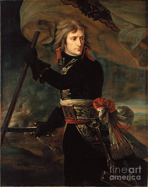 Pyrography Wall Art - Painting - apoleon Bonaparte on the Bridge at Arcole by Celestial Images