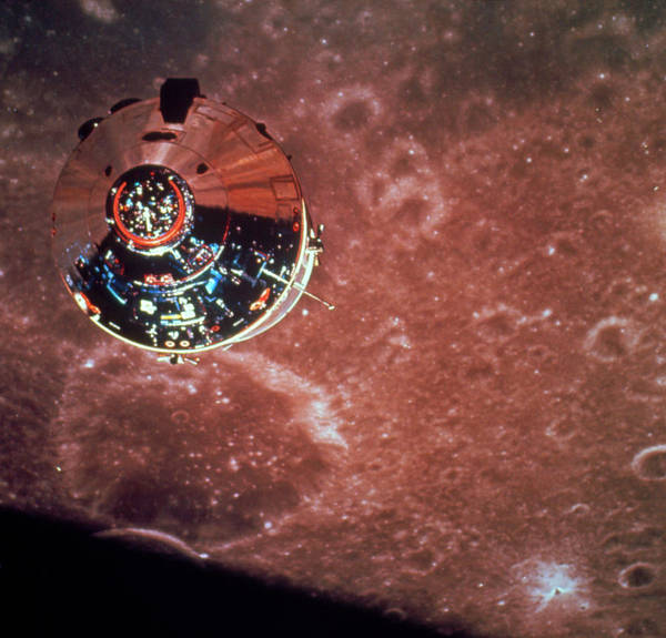 Module Wall Art - Photograph - Apollo 10 Command Module Seen Orbiting The Moon by Nasa/science Photo Library