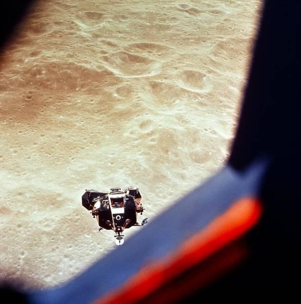 Module Wall Art - Photograph - Apollo 10 Lunar Module Above The Moon by Nasa/science Photo Library