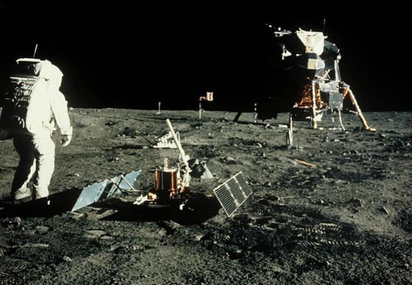 Module Wall Art - Photograph - Apollo 11 Astronaut Buzz Aldrin Near Lunar Module by Nasa/science Photo Library