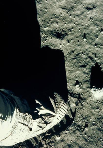 Wall Art - Photograph - Apollo 11 Astronaut's Foot & Footprint On Moon by Nasa/science Photo Library