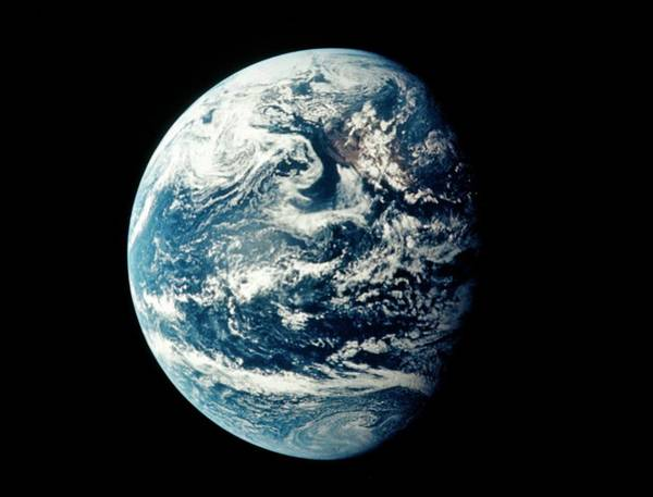 Wall Art - Photograph - Apollo 11 Image Of Earth Showing Pacific Ocean by Nasa/science Photo Library