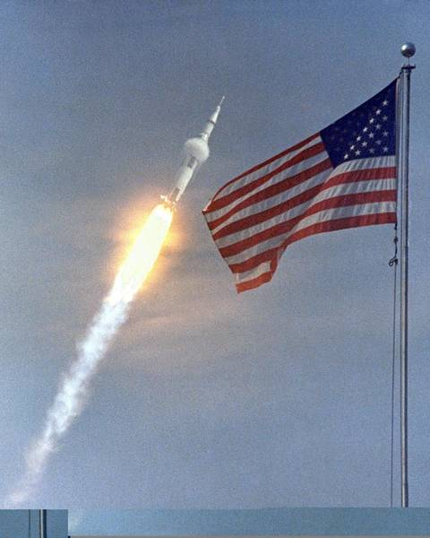Wall Art - Photograph - Apollo 11 Launch, 16 July 1969 by Science Photo Library