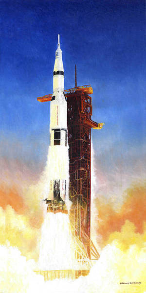 Painting - Apollo 11 Launch by Douglas Castleman