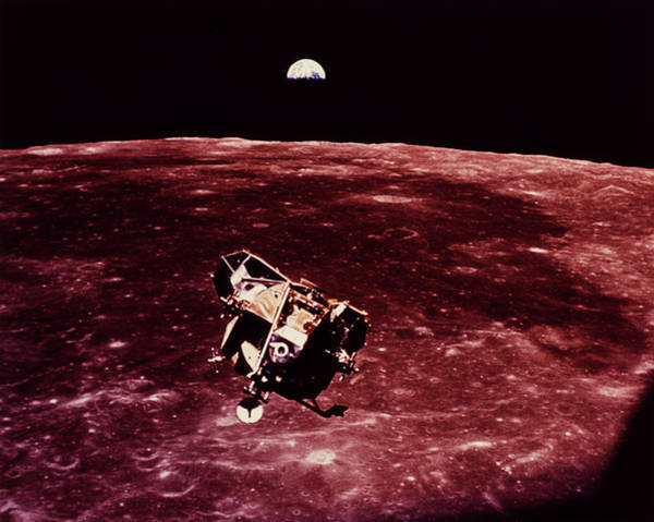 Module Wall Art - Photograph - Apollo 11 Lunar Module Returning From The Moon by Nasa/science Photo Library.