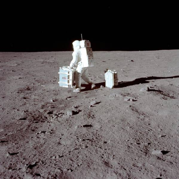 Professions Photograph - Apollo 11 Moon Landing by Image Science And Analysis Laboratory, Nasa-johnson Space Center