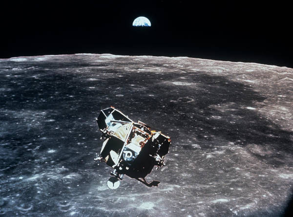 Wall Art - Photograph - Apollo 11 Photo Of Lunar Module Ascent Stage by Nasa/science Photo Library