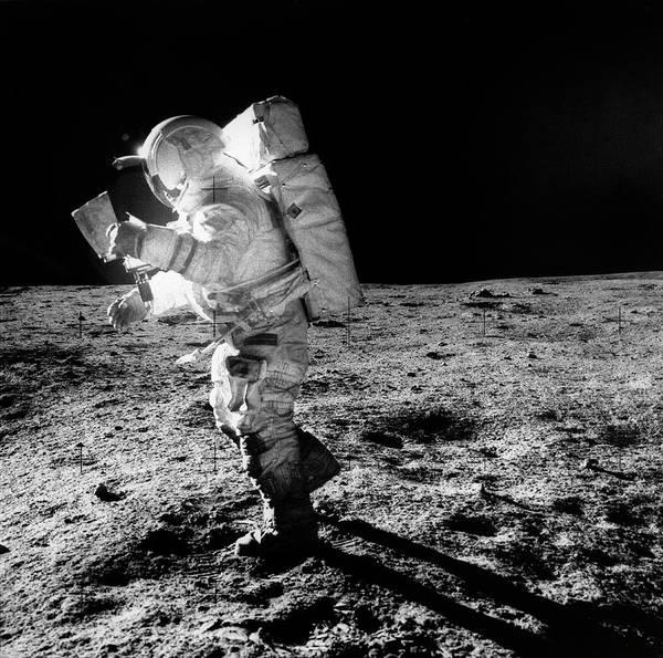 Astronaut Photograph - Apollo 14 Astronaut On The Moon by Nasa/detlev Van Ravenswaay
