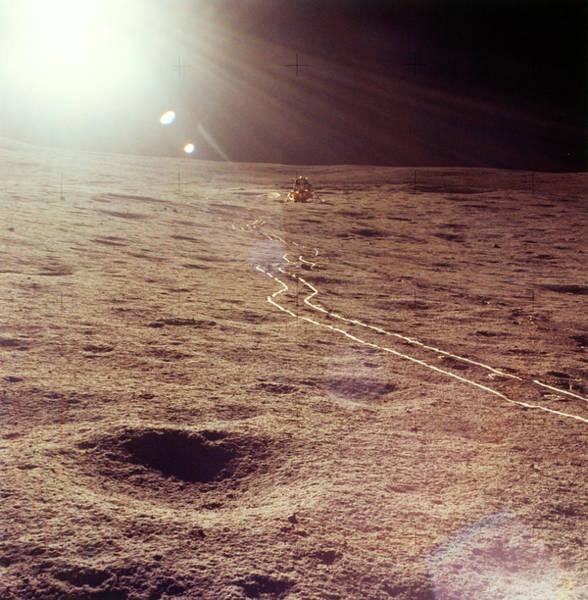 Module Wall Art - Photograph - Apollo 14 Lunar Module On Moon by Nasa/science Photo Library