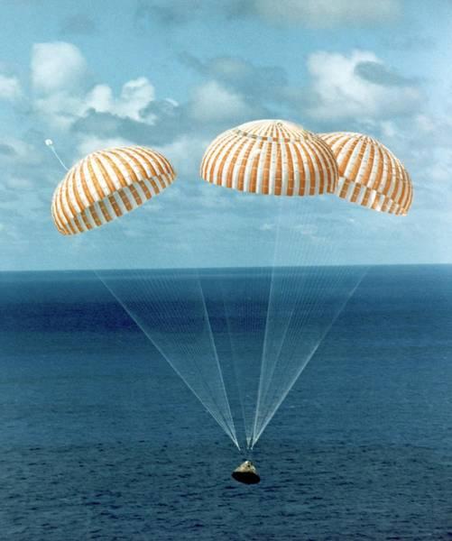 Sea Hawk Photograph - Apollo 14 Water Landing by Nasa/science Photo Library