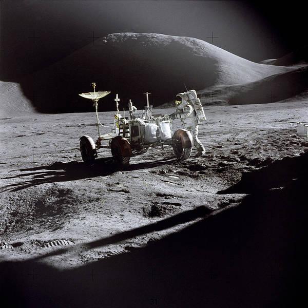 Photograph - Apollo 15 Lunar Rover by Commander David Scott