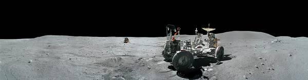 Module Wall Art - Photograph - Apollo 16 Exploration Of The Moon by Carlos Clarivan