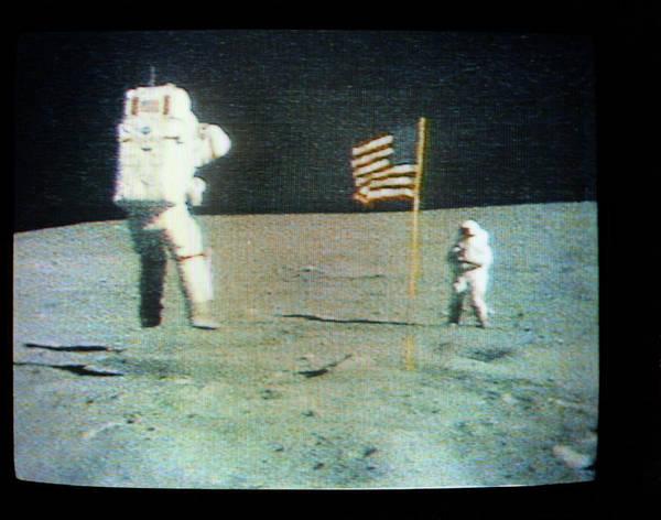 Television Program Wall Art - Photograph - Apollo 16 Moon Walk by Nasa