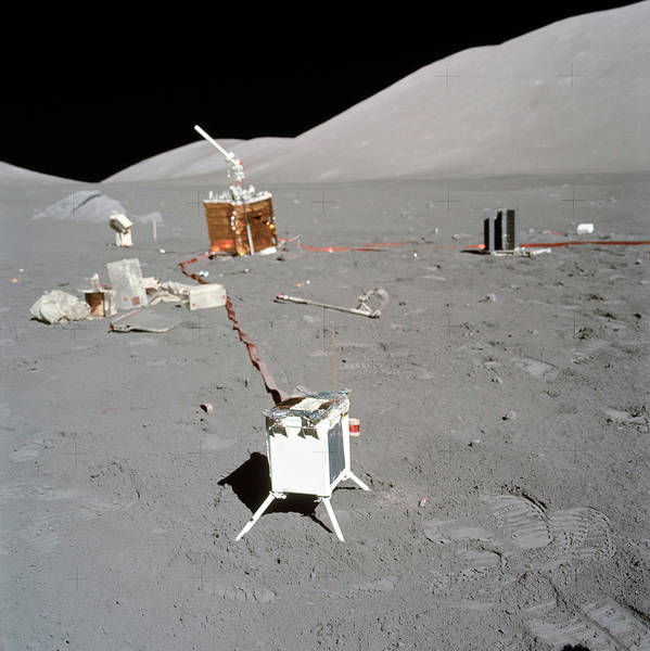 1972 Photograph - Apollo 17 Alsep Equipment by Nasa