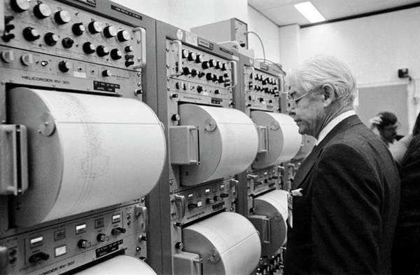 1972 Photograph - Apollo 17 Seismograph Readings by Nasa