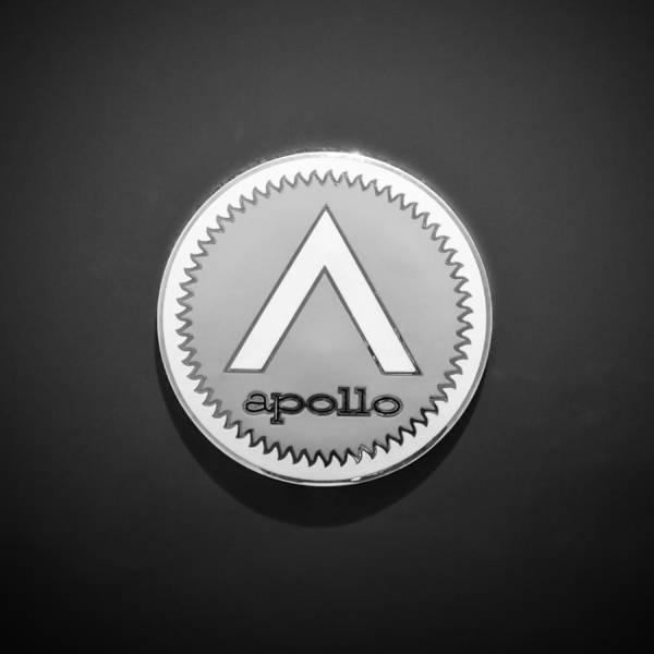Photograph - Apollo 5000 Gt Emblem -0304bw by Jill Reger