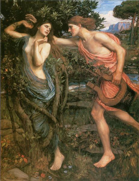 Waterhouse Wall Art - Painting - Apollo And Daphne by John William Waterhouse