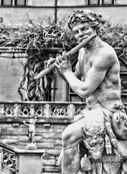 Photograph - Apollo And Pan Flute Playing Statue By Diana Sainz by Diana Raquel Sainz