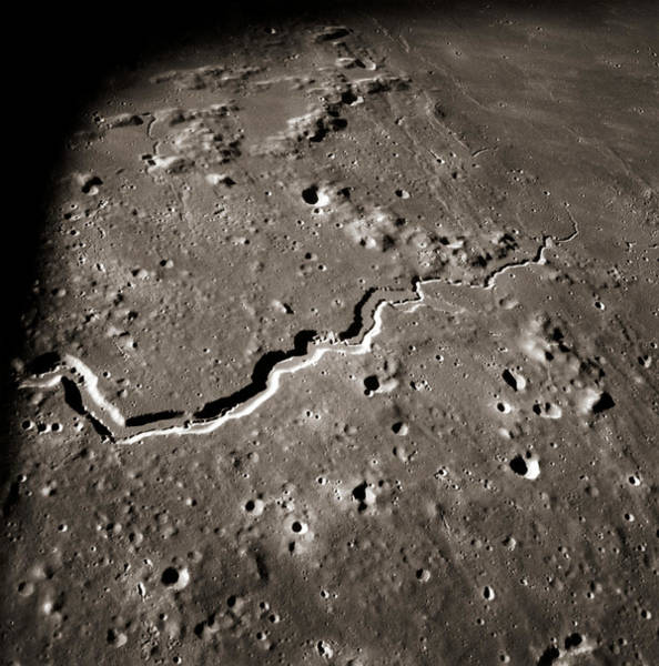 Wall Art - Photograph - Apollo Imagery Of Schroter's Valley On Moon by Nasa/science Photo Library