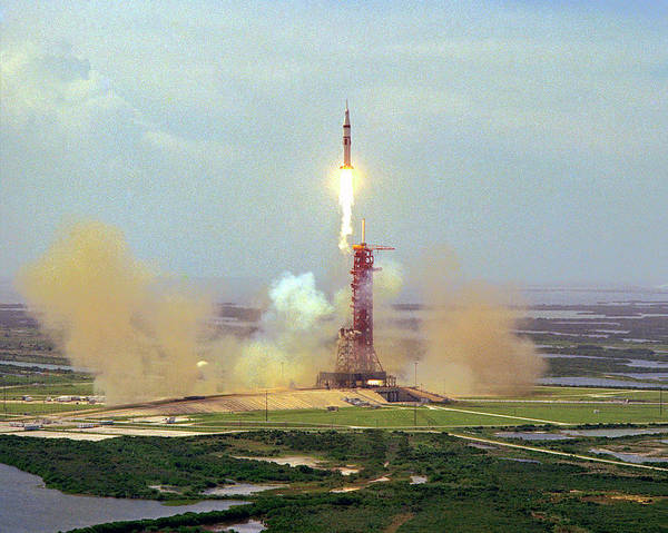 Center Stage Photograph - Apollo Soyuz Test Project Launch by Nasa