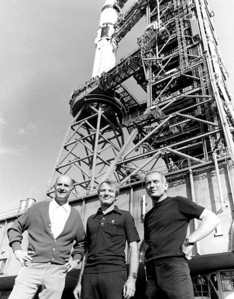 Professions Photograph - Apollo Soyuz Test Project Us Crew by Nasa