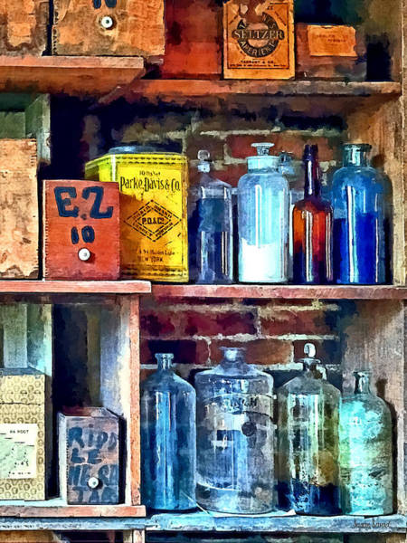 Photograph - Apothecary Stockroom by Susan Savad