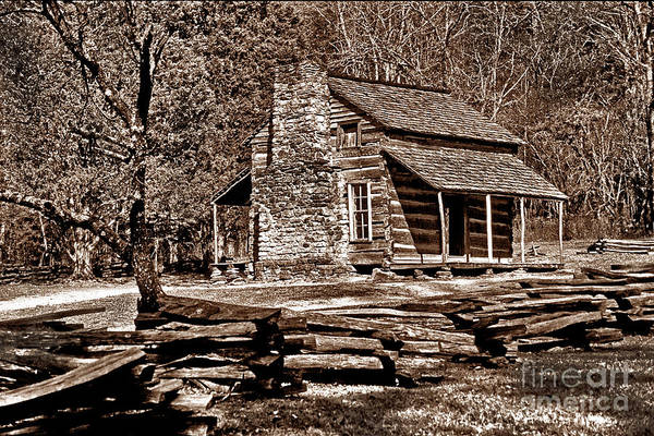 Photograph - Appalachian Cabin - Toned by Paul W Faust -  Impressions of Light