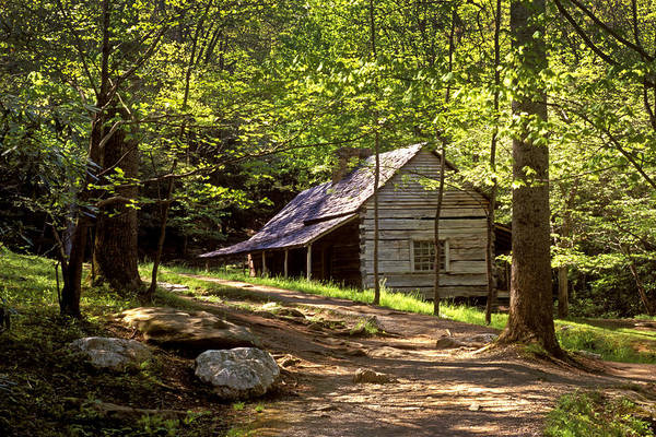Photograph - Appalachian Mountain Log Cabin by Paul W Faust -  Impressions of Light