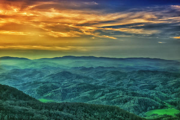 Appalachian Mountain Sunset Art Print
