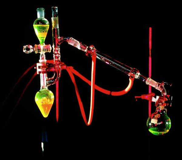 Apparatus Used For Chemical Distillation Art Print by David Taylor/science Photo Library