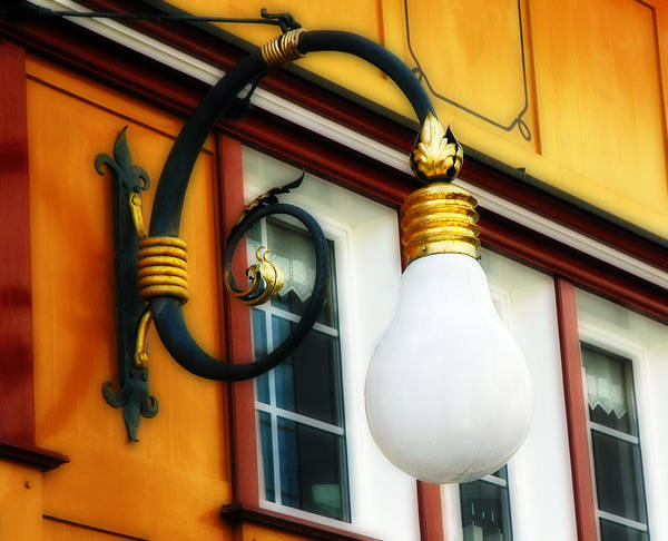 Photograph - Appenzell's Swiss Lamp Store by Ginger Wakem