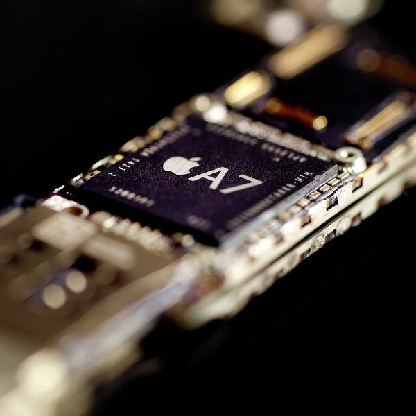 Smartphone Photograph - Apple A7 Microchip by Science Photo Library