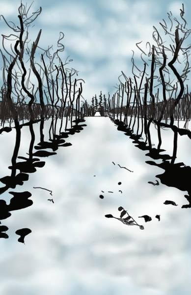 Okanagan Valley Painting - Apple Alley II  by Lizzie McCorquodale Kushner