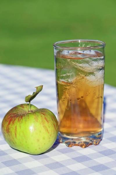 Malus Photograph - Apple And Glass Of Apple Juice by Emmeline Watkins/science Photo Library