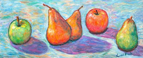 Painting - Apple And Pear Twirl by Kendall Kessler