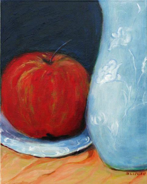 Wall Art - Painting - Apple by Barbara Lipkin