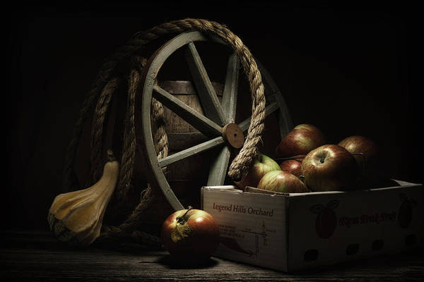 Ripe Photograph - Apple Basket Still Life by Tom Mc Nemar