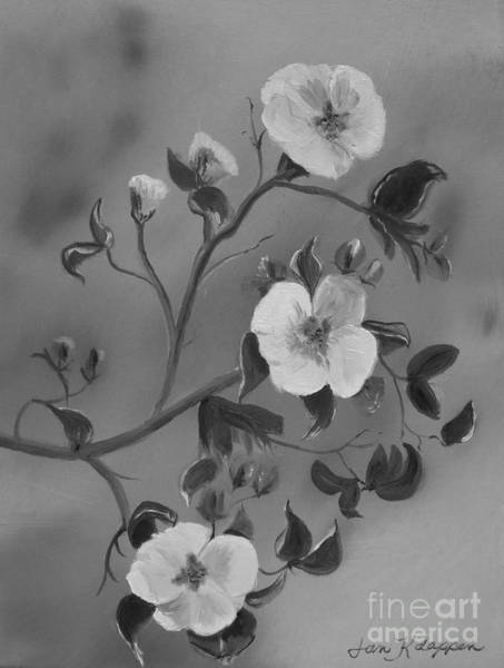Painting - Apple Blossoms - Ellijay - Black And White by Jan Dappen