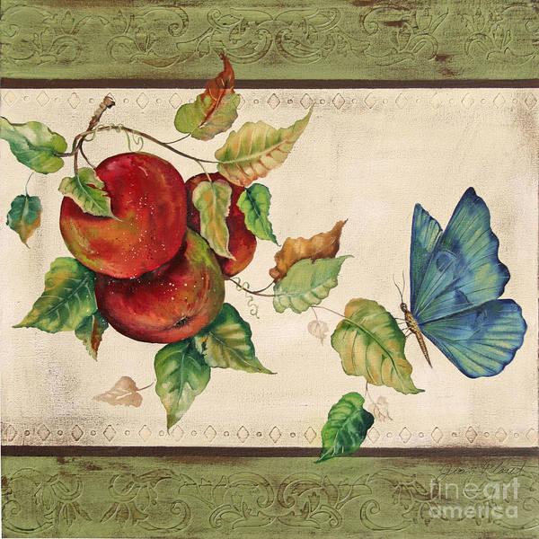 Emboss Wall Art - Painting - Apple Delight by Jean Plout